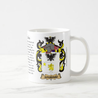 Arredondo, the Origin, the Meaning and the Crest M Coffee Mug