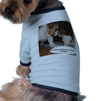 Arreglo de cuentas inglés del perrito del dogo y d camisa de perro