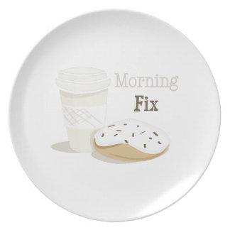 Arreglo de la mañana plato de comida