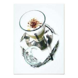 Arreglo de Latte del café Invitación 12,7 X 17,8 Cm