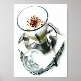Arreglo de Latte del café Poster