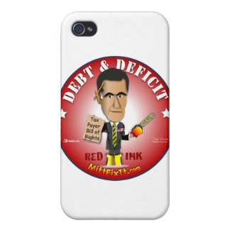 Arreglo del mitón él - deuda y déficit iPhone 4/4S carcasas