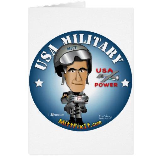Arreglo del mitón él - militares felicitación