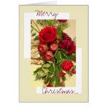 Arreglo del rosa de navidad tarjeton