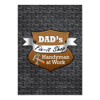 Arreglo-él del papá divertido el día de padre invitación 12,7 x 17,8 cm