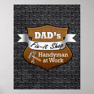 Arreglo-él del papá divertido el día de padre prác poster
