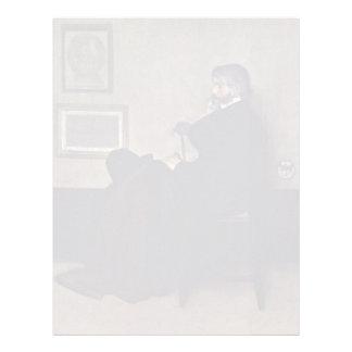 Arreglo en el retrato gris y negro de Thomas C Membretes Personalizados