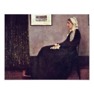 Arreglo en No.I negro y gris: La madre de Invitación 10,8 X 13,9 Cm
