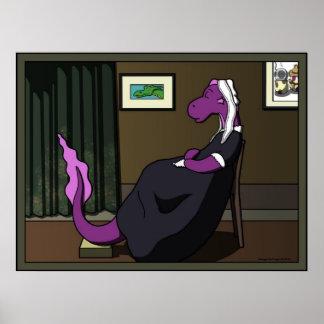 Arreglo en púrpura y verde póster