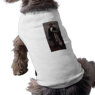 Arreglo en rosa claro y negro por marmota camiseta de mascota