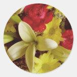 Arreglo floral 313a etiquetas redondas
