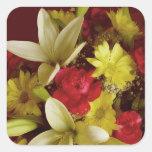 Arreglo floral 313a calcomanía cuadradas personalizada