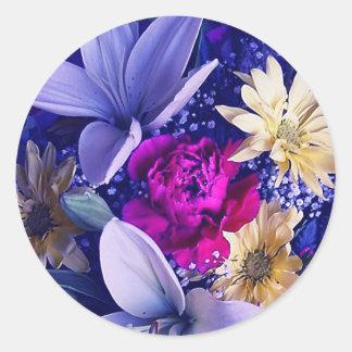 Arreglo floral 313b pegatina redonda