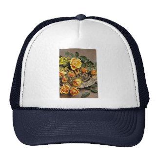 Arreglo floral atractivo gorras