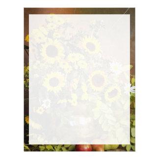 Arreglo floral atractivo membrete