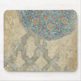 Arreglo floral de la tapicería de plata decorativa alfombrillas de ratones