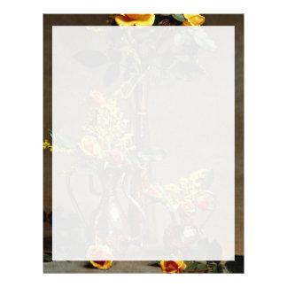Arreglo floral impresionante plantillas de membrete