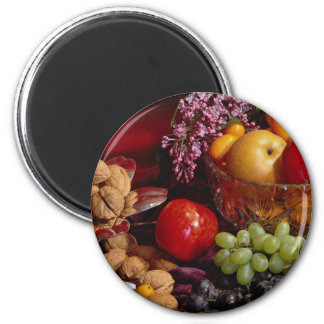 Arreglo hermoso de la fruta imán para frigorífico