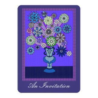 """Arreglo púrpura brillante del remiendo invitación 5"""" x 7"""""""