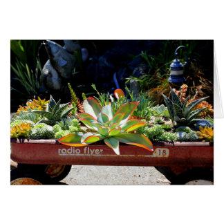 Arreglo rústico del Succulent del carro Tarjetón