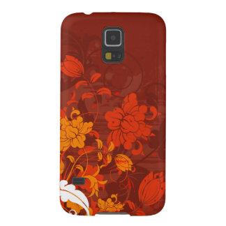 Arreglos florales rojos carcasa para galaxy s5