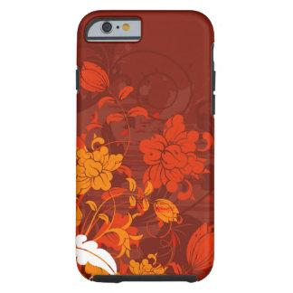 Arreglos florales rojos funda de iPhone 6 tough