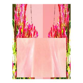 """Arreglos florales rosados folleto 8.5"""" x 11"""""""