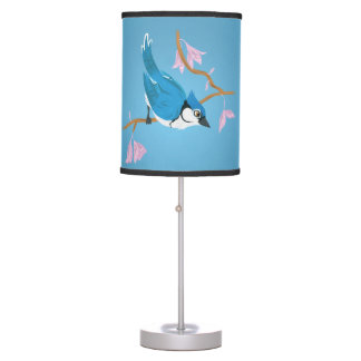 Arrendajo azul lámpara de escritorio