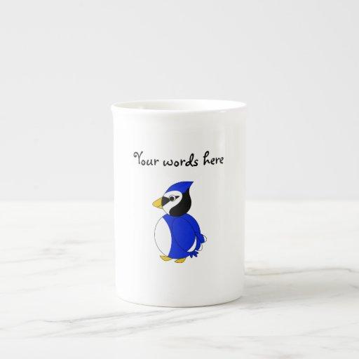 Arrendajo azul lindo taza de porcelana
