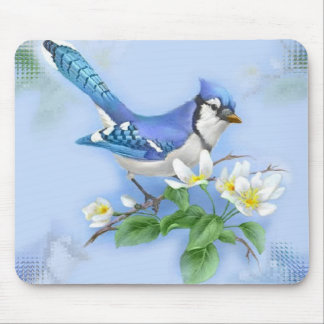 Arrendajo azul Mousepad Tapete De Raton