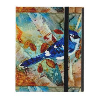 Arrendajos azules en los árboles iPad cárcasas