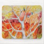 Arrendajos azules en otoño tapete de ratón