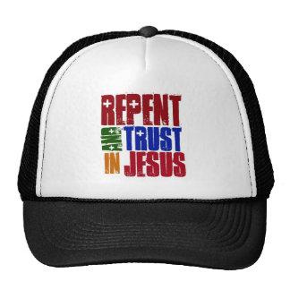 Arrepiéntase y confíe en en Jesús Gorro De Camionero