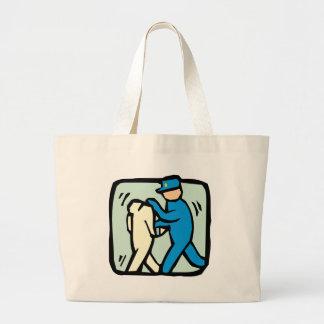 arrest large tote bag