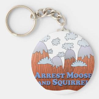 Arrest Moose and Squirrel - Dark Keychains