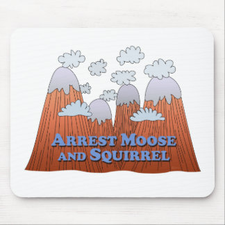Arrest Moose and Squirrel - Dark Mouse Pad
