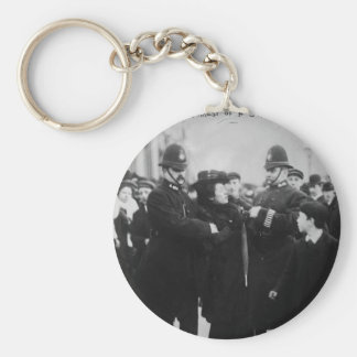 Arrest of a Suffragette in London England c 1910 Basic Round Button Keychain