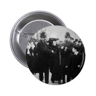 Arrest of a Suffragette in London England c 1910 Button