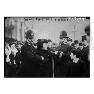 Arrest of a Suffragette in London England c 1910 Card
