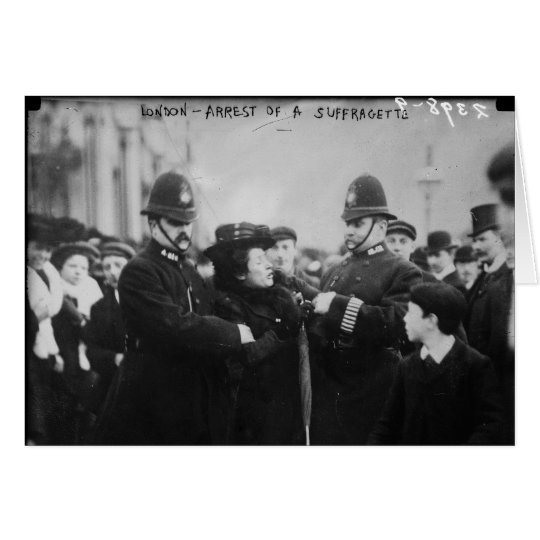 Arrest of a Suffragette in London England c 1910 Card