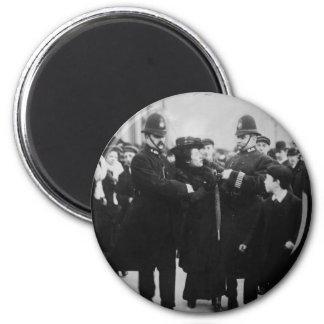 Arrest of a Suffragette in London England c 1910 Fridge Magnet