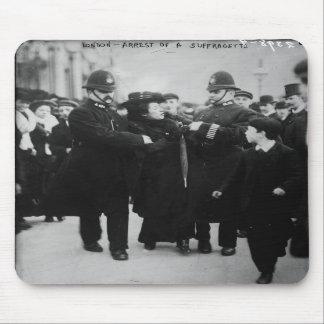 Arrest of a Suffragette in London England c 1910 Mouse Pads