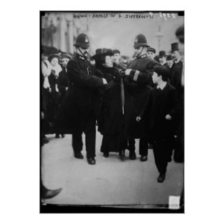 Arrest of a Suffragette in London England in 1910 Poster
