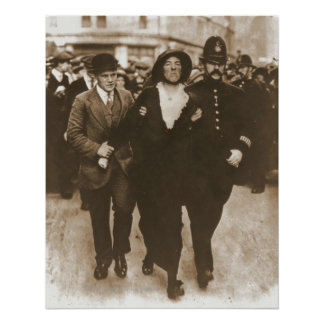 Arrest of a Suffragette Poster