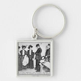 Arrest of Mrs Pankhurst Key Chains