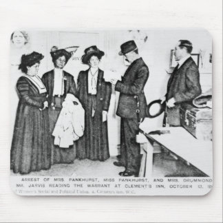 Arrest of Mrs Pankhurst Mouse Pad