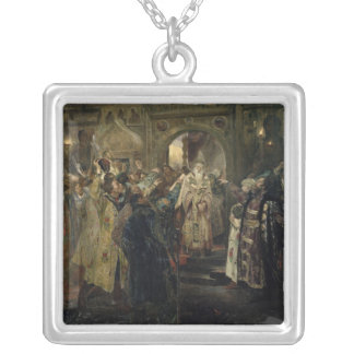 Arrest of the 'metropolitan' Philip, 1910 Silver Plated Necklace