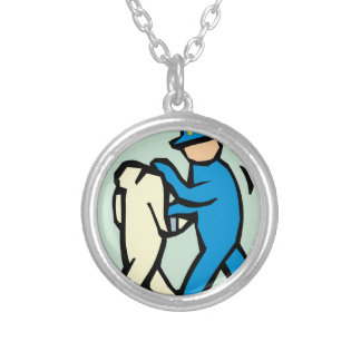 arrest silver plated necklace