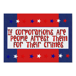 ARREST THE CORPORATIONS CARD