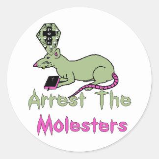 Arrest The Molesters Classic Round Sticker